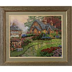 Картина вишита бісером будиночок мрії, колодязь бажань