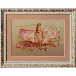 Картина вишита бісером Балерина