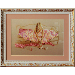 Картина вышитая  бисером Балерина