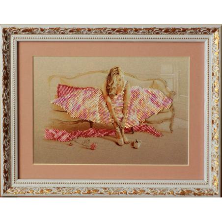 """Картина вишита бісером """"Балерина"""". 29х37см"""