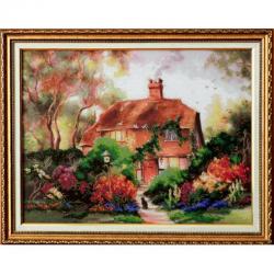 Картина вышитая бисером  Милый Дом