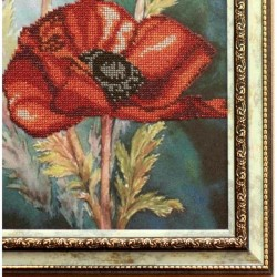 """Картина """"Маки"""" оформлена в раму якісним багетом в багетній майстерні"""