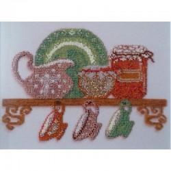 Качественно выполненная вышивка бисером картины Кантри