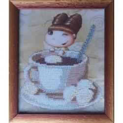 Картина вышитая  бисером Малышка. Какао
