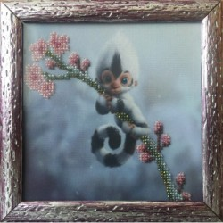 Картина вишита бісером Мавпочка