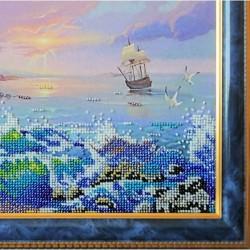 Оформление картины Морской бриз в раму выполнено качественным багетом.