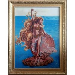 Картина вышитая бисером Афродита
