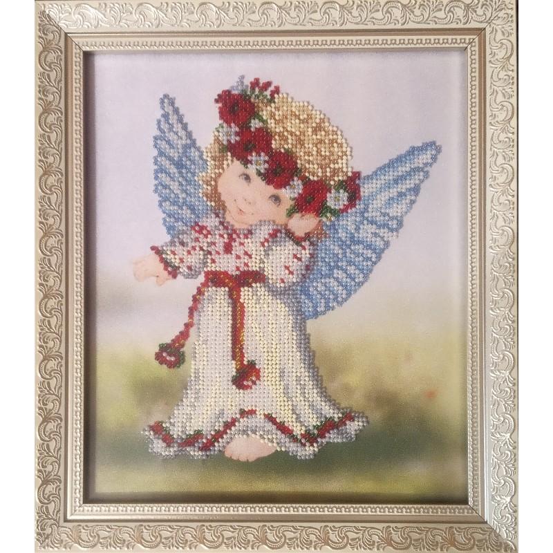 Картина вышитая  бисером Ангел (Украиночка)